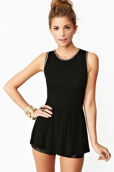 Chained Peplum Top in Clothes Tops at Nasty Gal