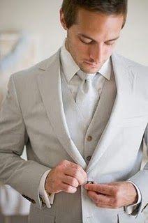 Pale grey suit style
