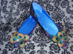 Women's Custom Peacock & Guinea Feather Shoes by TheQuietRiot, $59.99