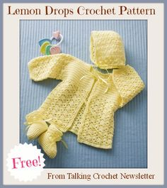FREE Lemon Drops Crochet Pattern from Talking Crochet Newsletter. Sign up for this free newsletter here: http://www.anniesnewsletters.com