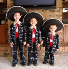 Three Amigos Costume for Three Little Brothers