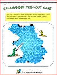 Salamander Fish Out Game - a kindergarten counting game which can be played by children of any ages.