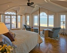 Delaware home with room overlooking Bethany Beach built by Dewson Construction Company! Some -  Bruce Palmer Design Studio and the architectural firm Olivieri, Shousky & Kiss. via houseofturquoise.com