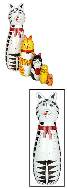 Gifts that give more - Indian Nesting Cat Dolls from the Rainforest Site ~ This gift also contributes to Preserving 1,145 sq.ft. of land.