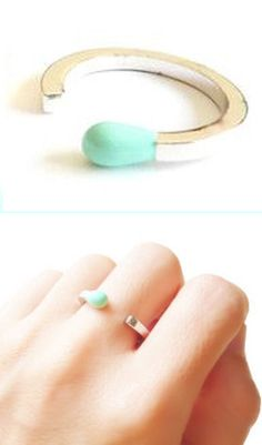 Mint Matchstick Ring