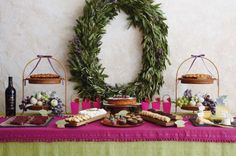 Holiday sweets table by Amy Atlas