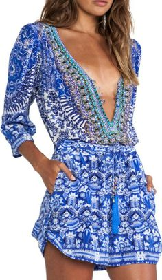 Camilla blue & white playsuit...sexy with tan lines