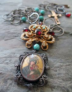 QUEEN of BETHLEHEM  vintage assemblage necklace by TheFrenchCircus, $188.00
