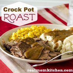 Crock Pot Roast   realmomkitchen.com