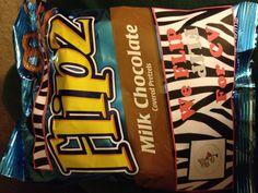 Cheerleading spirit bag! FLIPZ pretzels with label! More