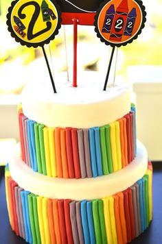 party ideas kids, cake party, kid birthdays, birthday cake, kid parties, party cakes, parti idea, kid birthday parties, crayon party