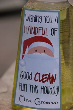 Holiday Teacher Gift, Hostess gift - Personalized Foaming Hand Soap. $5.50, via Etsy.
