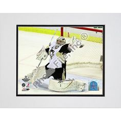Photo File Pittsburgh Penguins Marc-Andre Fleury 2009 Stanley Cup Finals Game 7 8x10 Matted Photo $14.99