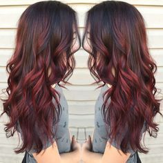 Red balayage - this