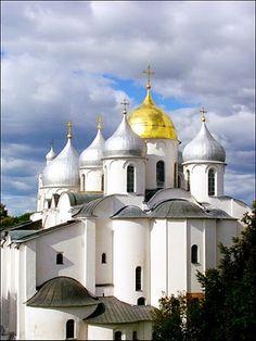 Novgorod Russia - city church