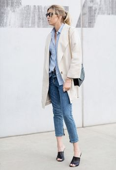 Chambray with cream jacket