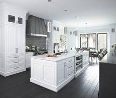 white kitchen plus gray... Swoon