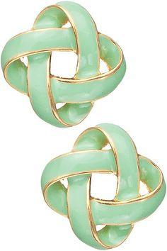 Dottie Couture Boutique - Knot Studs- Mint , $12.00