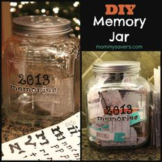 Memory Jar. I did this with a small and wide vase like thing. May attempt again with a canning jar.