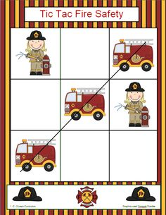 I have added a Tic Tac Fire Safety game to 1 - 2 - 3 Learn Curriculum - under the Fire Safety link on 1 - 2 - 3 Learn Curriculum. Thank you! Jean 1 - 2 - 3 Learn Curriculum