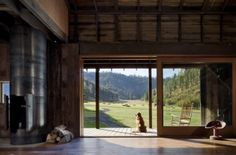 Now that's a view out the back door and with a golden of course!!! open spaces, dream, sliding glass doors, the view, family rooms, barns, hous, dog, sliding doors