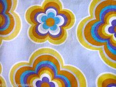 colour, retro mønster, duvet covers, vintage fabrics, 1970s decor, fabul vintag, vintag fabric, 1970s pattern