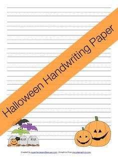 Free Printable - Halloween Handwriting Paper