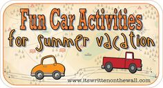 Fun Car Activities for Summer Road Trips.  (We did the bingo printables and the license plate printable for our road trip last year to Yellowstone and the boys loved them!  This has even more! :D).