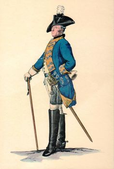 Prussian Officer Print circa 1762 by lehiboublanc on Etsy, $11.00