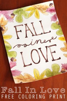 Free fall printable {Fall in love} - C.R.A.F.T.