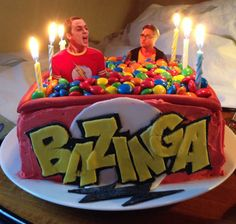 The Big Bang Theory- Bazinga cake! How awesome is that??