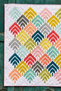 Bijou Lovely: Modern Solids Challenge: Woodcut Quilt.