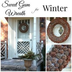 Sweet Gum Wreath for