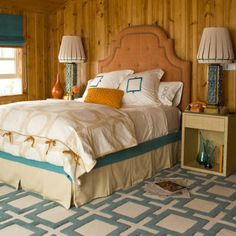 Making wood paneling work in a modern home.