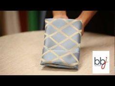BBJ Linen: How to Fold a Napkin Linen Rental Menu - YouTube