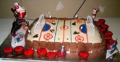 Hockey themed birthday cake!