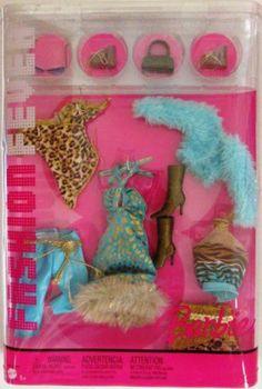 Barbie Fashion Fever Turquoise Animal Print Fashion Pack J1375   eBay