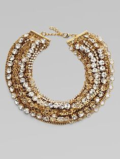 ABS by Allen Schwartz Jewelry Glass Bib Necklace