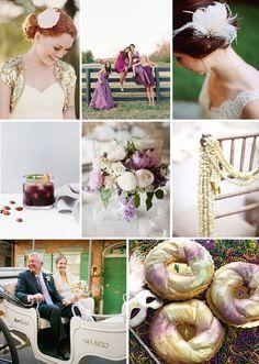 #Inspiration #Board: A Modern Mardi Gras Wedding