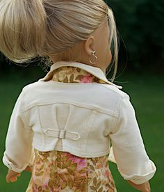 American Girl Doll Clothing. 18 Inch Doll by Simply18Inches crop jacket, stud, americangirl, american girl