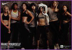 Nike female athletes
