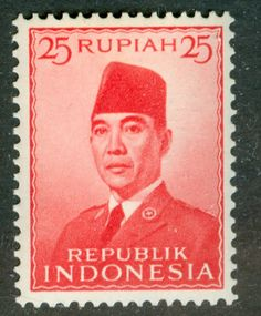Druktechnische Filatelie / Postage Stamp production methods: Indonesische frankeerzegels / Indonesian definitives President Soekarno 1951-1963