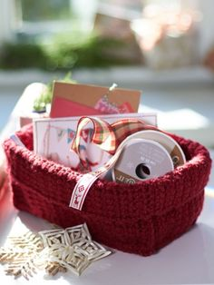 Stash Basket | Yarn | Free Knitting Patterns | Crochet Patterns | Yarnspirations crochet baskets, basket free, knitting patterns, craft supplies, basket crochet, stash basket, crochet patterns, yarn, design studios