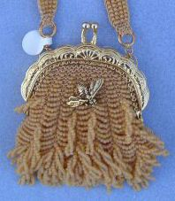 Honey Bag by Cindy Hulsey. I made this honey bag using the Honey Bag pattern from Bead Knitted Bags Vol II. It turned out a little differently the second time around! It is still my favorite of the Bead Knitted Bag patterns.