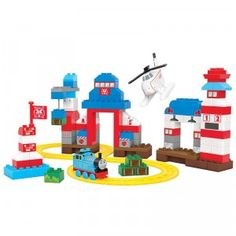 The Junior Builders Thomas & Friends Rescue Center Heroes set comes with more than 130 pieces.