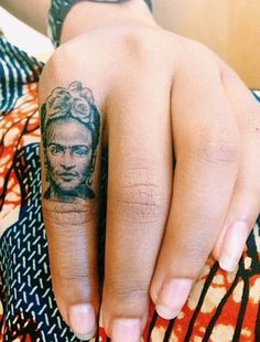 Frida kahlo finger tattoo!