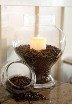 Coffee beans and vanilla candle... amazing aroma