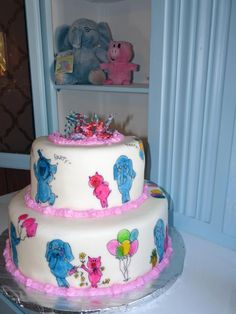 Elephant and Piggie birthday cake  http://2busybrunettes.com/2012/02/06/you-might-be-a-teacher-if/ Piggies Parties, Piggies Cake, Birthday Parties, Mo Willems, Cake Ideas, 1St Birthday, Piggies Birthday, Parties Ideas, Birthday Cakes