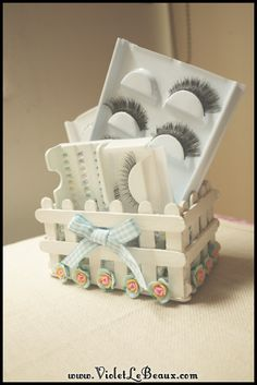 White picket fence popsicle stick box/holder