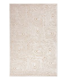 """"""" Cream Tree Ring Rug by Jaipur Rugs on #zulily"""""""